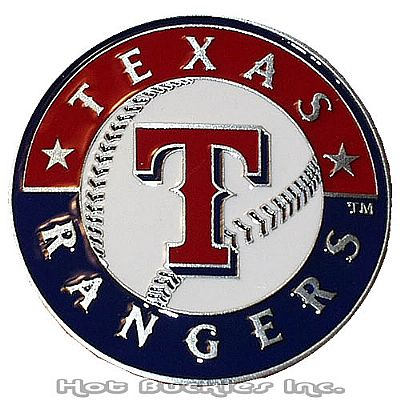 Licensed Texas Rangers Belt Buckle