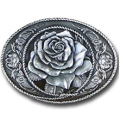 Classic western Rose Belt Buckle