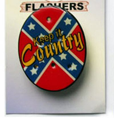 Flashing Keep it Country Badge