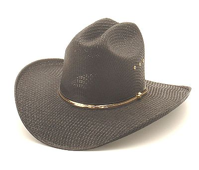BLACK STALLION STRAW HAT ELASTIC