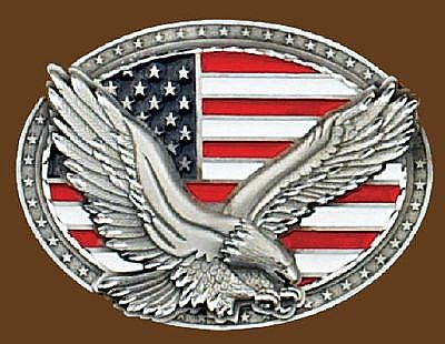 "Eagle on USA Flag  4""x 3"""